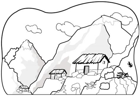 imagenes de paisajes faciles para colorear paisajes para colorear