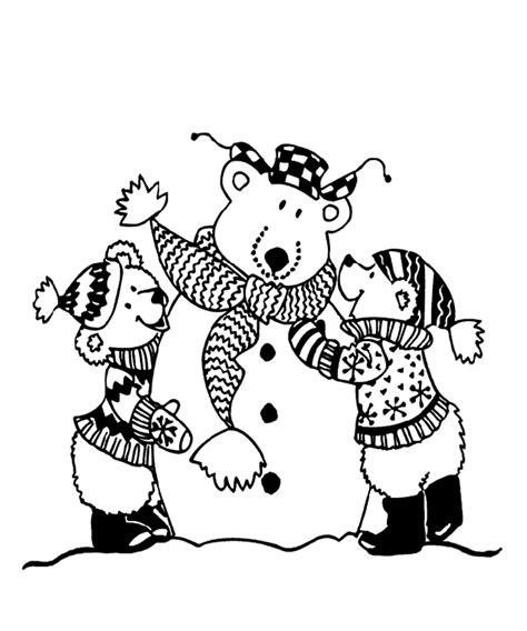 crayola coloring pages winter snow bears coloring page crayola com