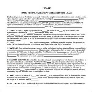 Residential Lease Agreement Template Free Download Sample Residential Rental Agreement 9 Free Documents In