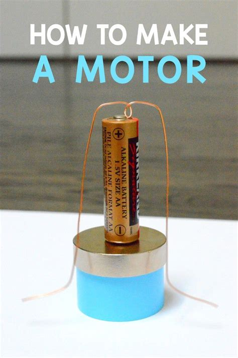 How To Build Simple Dc Motor Video Science Pinterest