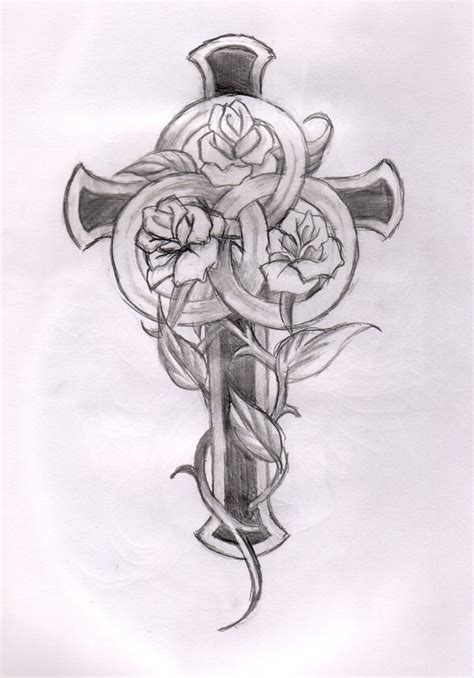 cross with roses tattoo designs cross and designs cross and roses cross