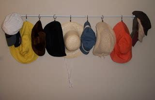 Home Made Hat Rack idea bottle hats and hat rack