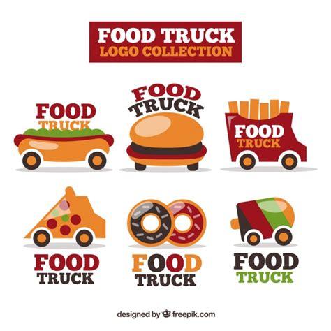 free food truck logo design colorful pack of fun food truck logos vector free download