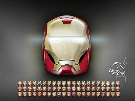 ironman helmet emojis chrisgraphix dribbble