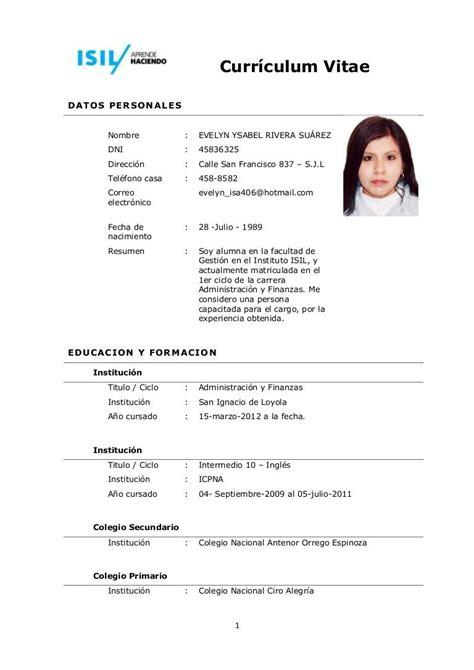 Modelo De Curriculum Ministerio De Trabajo como escribir un curr 237 culum de secretaria ejemplos de