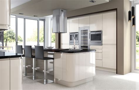 modern kitchen designs slab and shaker doors