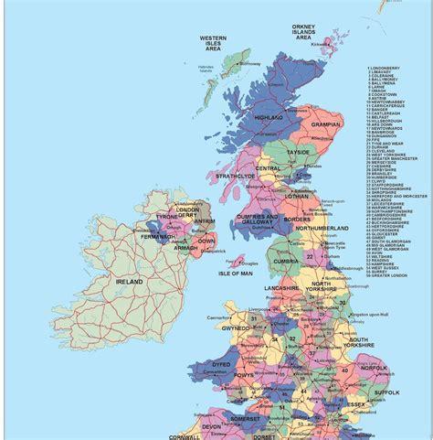 map of united kingdom united kingdom political map illustrator vector eps maps
