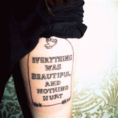 everything was beautiful and nothing hurt tattoo 54 best books worth reading images on cool