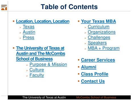 Ut Time Mba Program by Introduction To The Time Mba Program