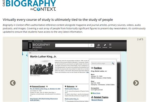 biography in context gale biography in context is a resource for information