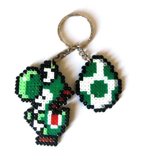 Egg Mario Bros yoshi egg mario bros sprites keychain brooch