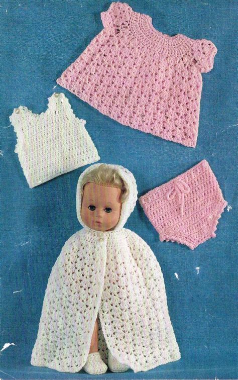 crochet pattern doll clothes 11 14baby dolls clothes crochet pattern vintage