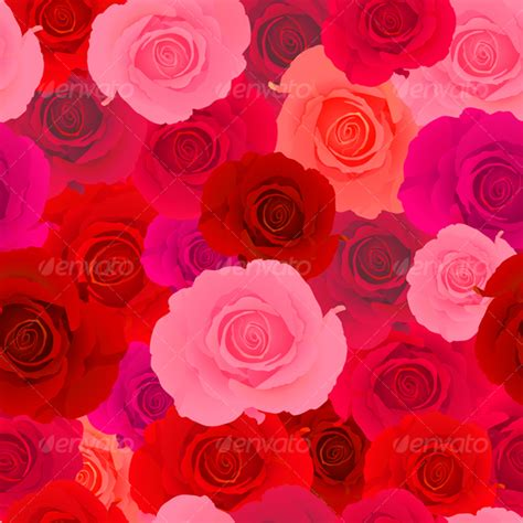 pink red pattern red pink rose seamless pattern by arfey graphicriver