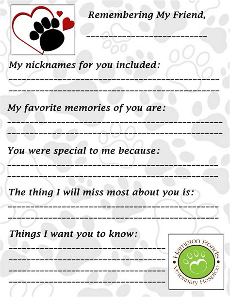 Grief And Loss Worksheets by Children S Corner Hton Roads Pet Loss Partnership Inc