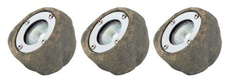 Rock Garden Lights 12v Electric Low Voltage Garden Or Outside Pond Rock Lights Set Ip44 Transformer Ebay