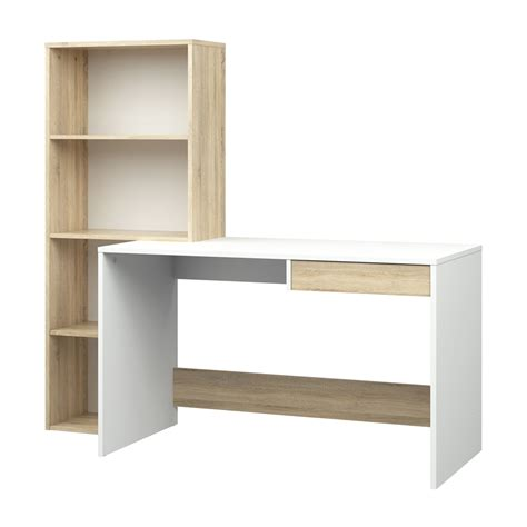 desk with bookcase tvilum 8015849ak desk with 4 shelf bookcase atg