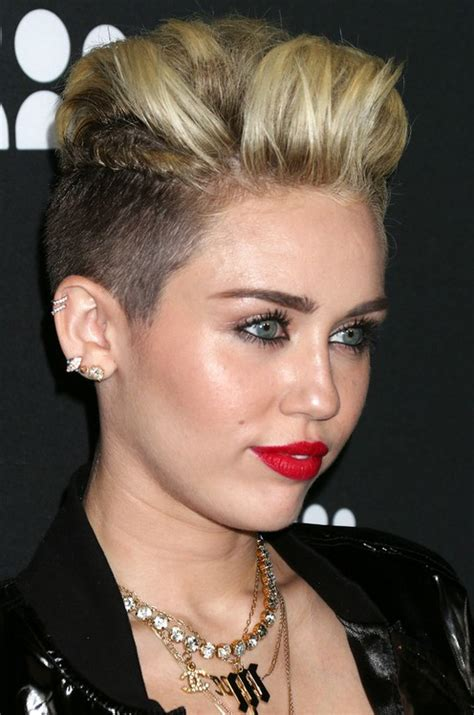 name of miley cyrus hairdo miley cyrus haircut name miley cyrus straight silver bun