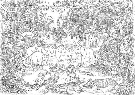 Coloring Page Jungle by Jungle Let S Color Amazing Places