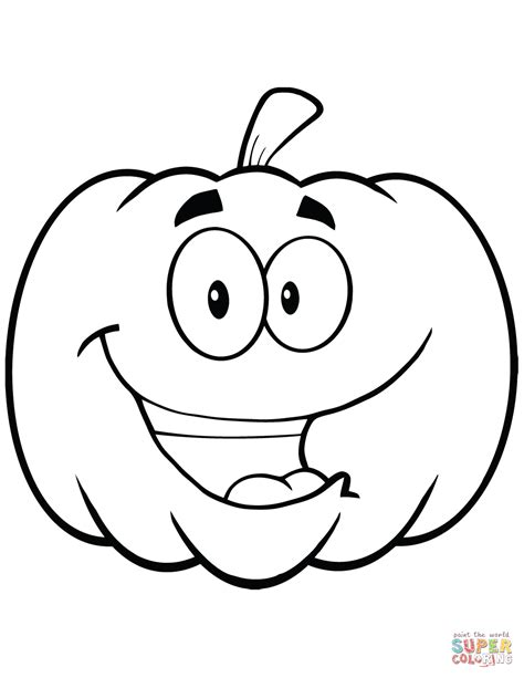 cartoon halloween pumpkin coloring page free printable