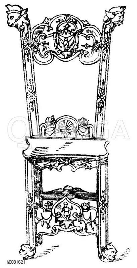 stuhl 17 jahrhundert stuhl in holz geschnitzt deutsche renaissance 17