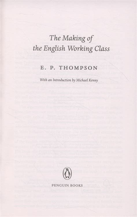 the making of the 0141976950 the making of the english working class by thompson e p 9780141976952 brownsbfs