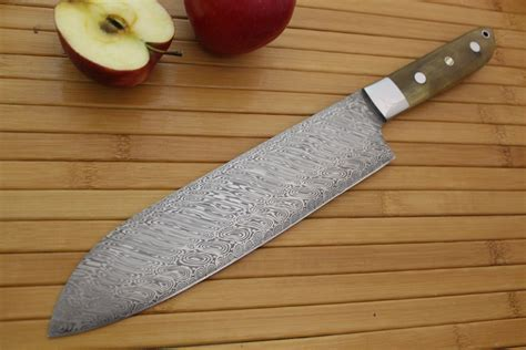 custom made kitchen knives made 8 quot damascus chefs knife by cote custom knives