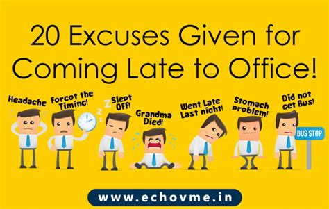 common excuses employees give for coming late to office