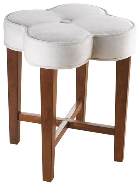 vanity benches and stools clover vanity stool contemporary vanity stools and