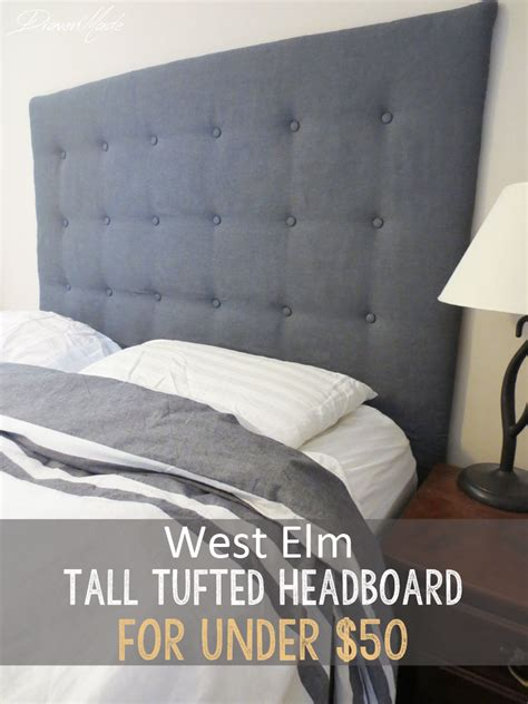 how to make a headboard taller diy west elm tall tufted headboard for under 50 living