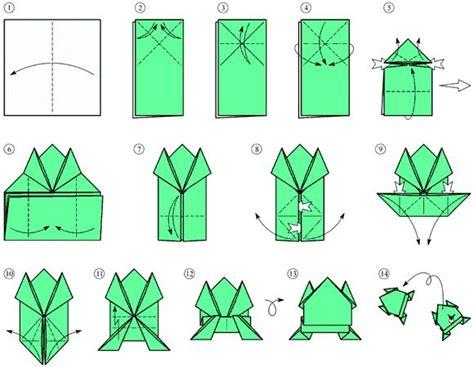 Rana Origami - il schema origami la rana origami istruzioni origami