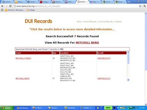 Mn Access Records Criminal Records Free To