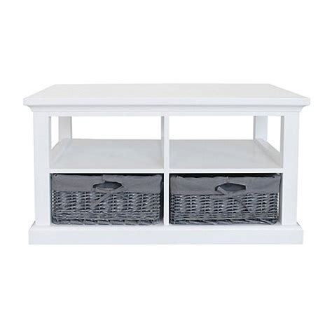 White Coffee Table With Baskets Debenhams White And Grey Wicker Sandringham Coffee Table With 2 Baskets Debenhams