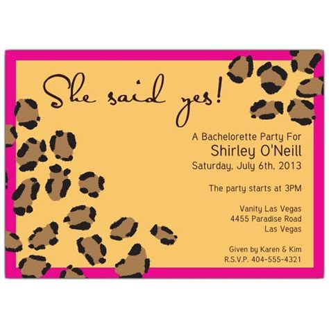 leopard print invitations templates invitation template animal orderecigsjuice info