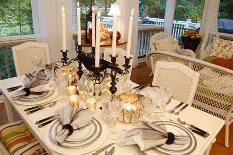 Christmas Kitchen Ideas by Elegant Halloween Tablescape