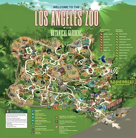 map of los angeles zoo animals in los angeles zoo los angeles ca in usa