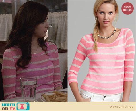 Thanksinsomnia Tees Lori Striped Pink 1 maggie s pink and white textured stripe top on the carrie