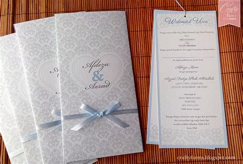 Undangan Vintage 02 wedding card malaysia crafty farms handmade pastel blue damask vintage wedding card