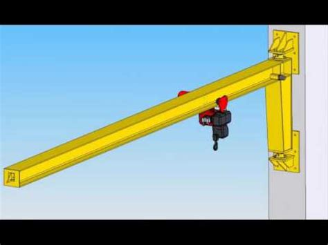 crane wall mount wall mounted jib crane youtube