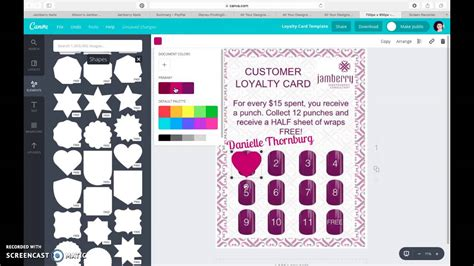 Loyalty Card Template Canva by Jamberry Customer Loyalty Card Using Canva