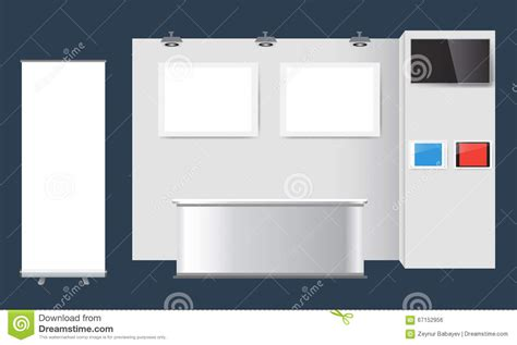 exhibition stand design template exhibition stand template royalty free illustration