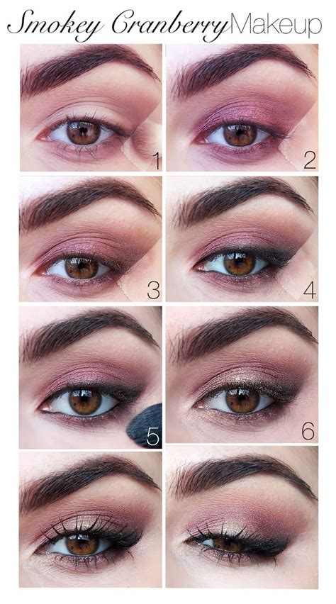 eyeshadow tutorial plum smokey cranberry makeup tutorial elf burnt plum baked