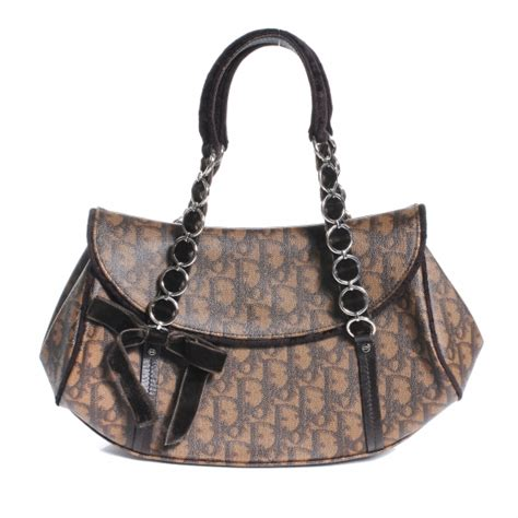 Trotter Romantique Equipped Handbag by Christian Monogram Romantique Trotter Bag Brown 49931