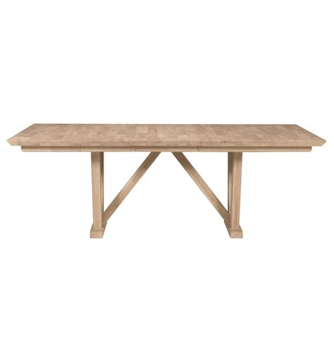 84 inch athena extension dining table bare wood