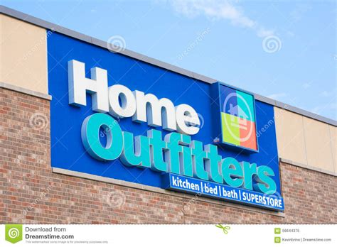 home decor similar to outfitters home outfitters sign editorial image image 56644375