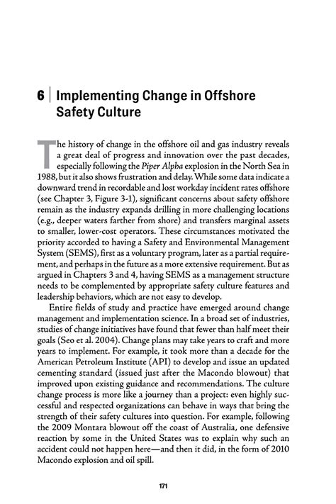 apa method section sle implementing change in offshore safety culture