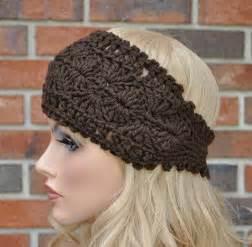 crochet headbands crochet headwrap womens crochet headband in chocolate