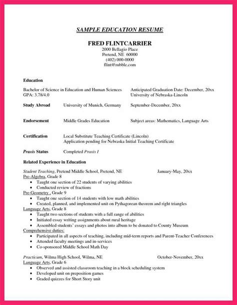 how to format college education on resume listing education on resume bio letter format