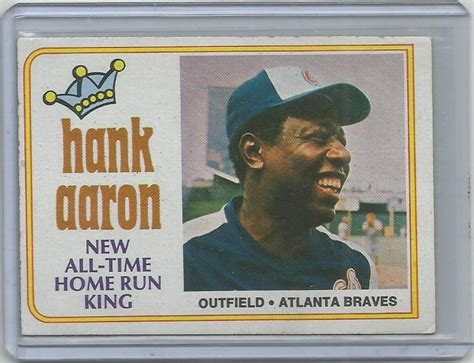1974 topps hank aaron 1 new all time home run king