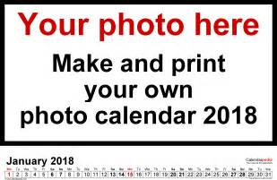 create your own calendar template free photo calendar 2018 free printable pdf templates