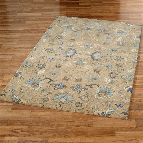 flowered rugs helena jacobean floral light brown area rugs
